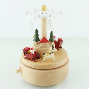New-Christmas-Decor-Ornament-Wind-Up-Music-Box-Clockwork-Toy-Xmas-Gifts-Kj