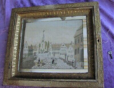Herzhaft Rares Altes Schlüsselkästchen Schlüsselschränkchen Biedermeierzeit Um 1830 Clear-Cut-Textur