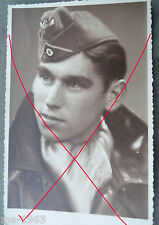 original Foto Portrait Soldat mit Ledermantel