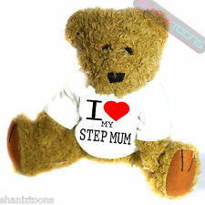 I Love My Step Mum Novelty Gift Teddy Bear