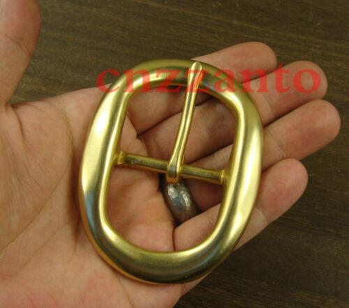 """Heavy Duty Laiton Massif Ovale Classique de la langue PIN Hippie Boucles de ceinture 1 1//2/"""" Z279"""