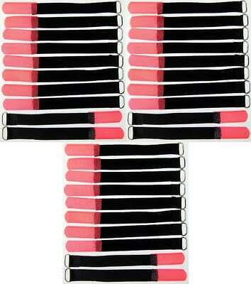 Brillante 30 X Cavo Velcro Nastro Di Velcro Asola 160 X 16 Mm Rosso Neon Velcro Fascette Per Cavi In Velcro Nastri-mostra Il Titolo Originale