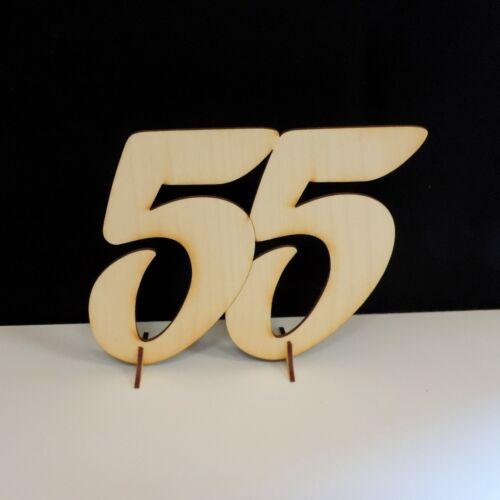 55 Jahre Platinhochzeit Geburtstag Geschenk 15cm aus Holz Jubiläum Aufsteller