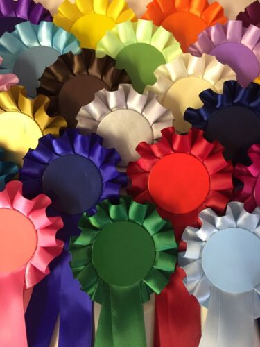 100 X Blank Rosettes Job Lot Great Value