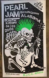 PEARL-JAM-POSTER-4-9-2003-TOUR-AMES-BROS-BIRMINGHAM-ALABAMA-EDDIE-VEDDER