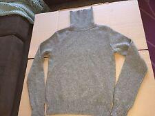 Ralph Lauren Blue Label Thick Wool Cashmere Sweater Turtleneck Gray