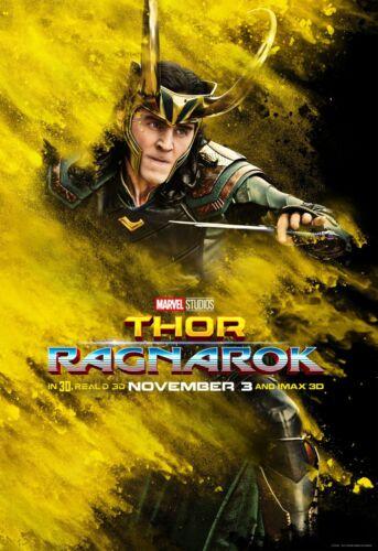 """Thor Ragnarok Movie Tom Hiddleston Loki 2017 Art Poster 13×20 24×36 27×40 32×48/"""""""