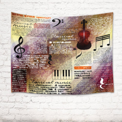 Music Symbol Guitar Tapestry Wall Hanging Wall Blankets Home Decor Art Bedspread