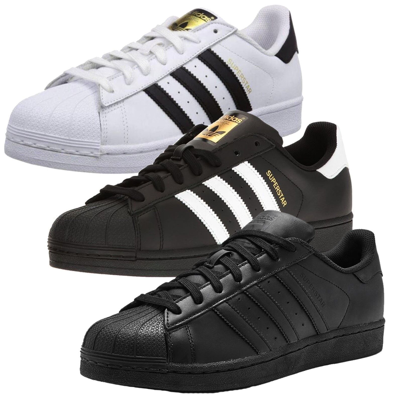 ✅24hr DELIVERY✅ Adidas Originals Superstar Leather Mens  Casual Trainers35% Off✅