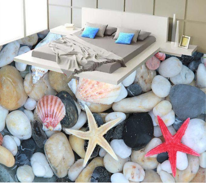 3D estrella masiva pescado Piso impresión de parojo de papel pintado mural 932 Calcomanía 5D AJ Wallpaper