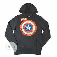 Primark Offficial Mens Captain America Logo Hooded Jumper Sweatshirt Hoodie
