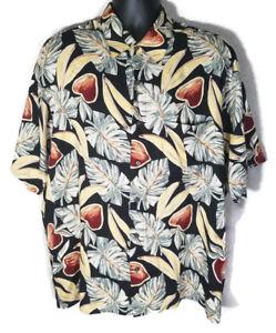 Munsingwear-Mens-XL-Hawaiian-Fruit-Floral-Casual-Short-Sleeve-Shirt