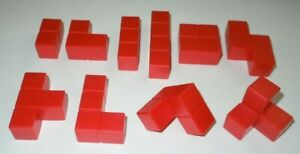 INCOMPLETE-Blokus-3D-Red-Replacement-Parts-LOT-10-Board-Game-Piece