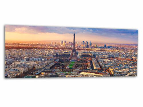 Bilder Wandbild AG-02044 Paris Eifelturm Sonnenaufgang 125 x 50cm Glas