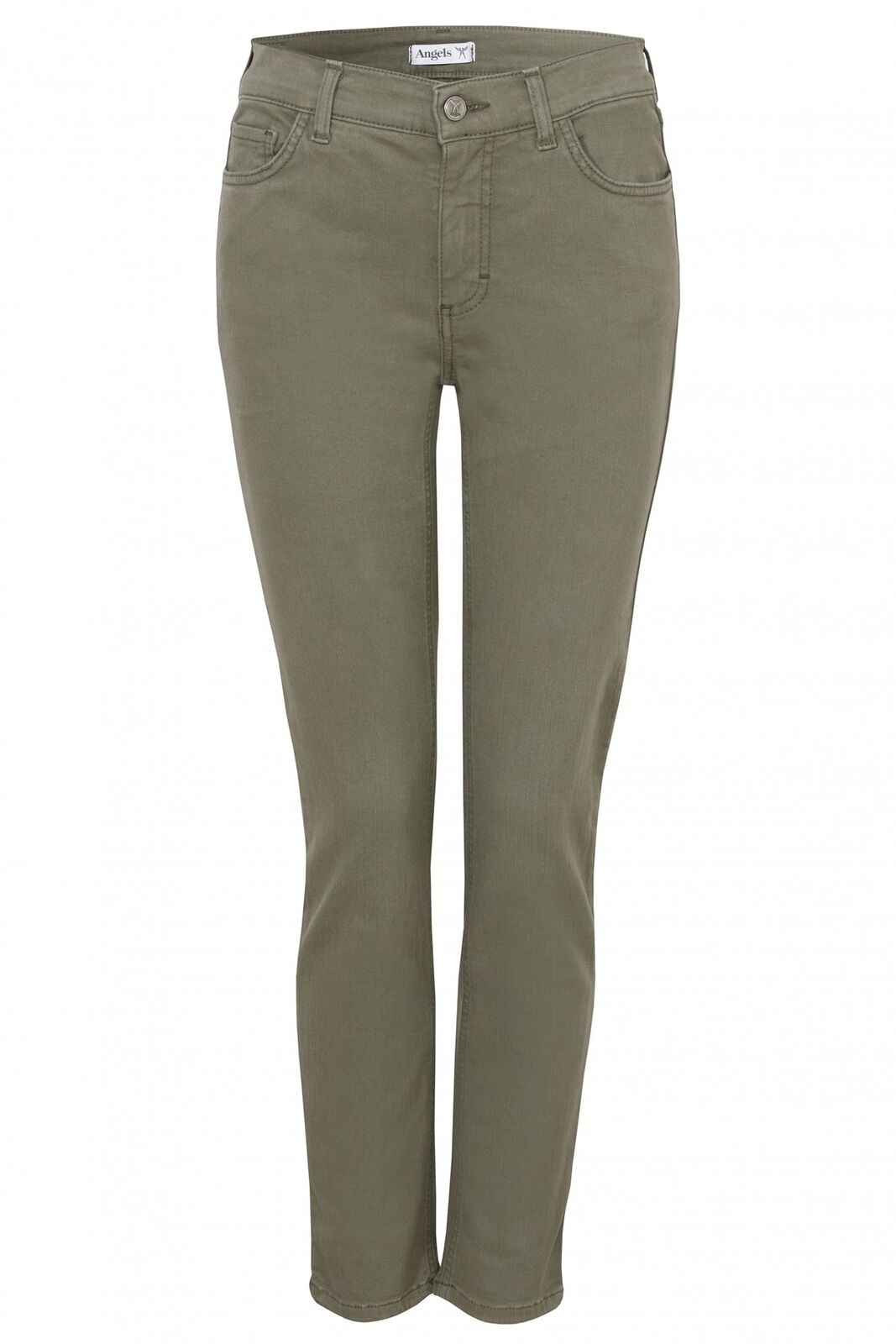 Angels Skinny modische Slim Fit Jeans in Light Khaki Stretch