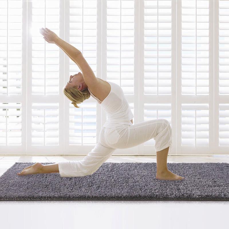 Tappeto Tinta Unita moderno soft soft soft touch trattamento stressfree Antistress Yoga 366e59