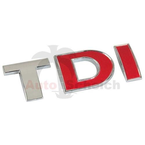 TDI Emblem Zeichen Chrom Schriftzug Aufkleber Grill Heckklappe Kotflügel Logo 3D