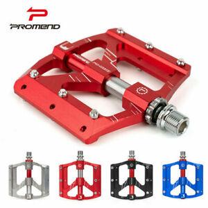 PROMEND-Aluminum-Alloy-Bicycle-Pedal-MTB-Road-Bike-Flat-Pedals-3-Sealed-Bearings