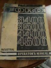 Ford 3400 3500 4400 4500 Operators Manual