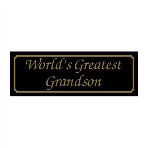 House Garden Worlds Greatest Grandson 200mm x 70mm Plastic Sign // Sticker