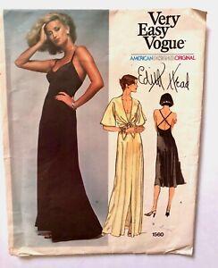 Vintage-EDITH-HEAD-Vogue-American-Designer-Original-Sewing-Pattern-FACTORY-FOLDS