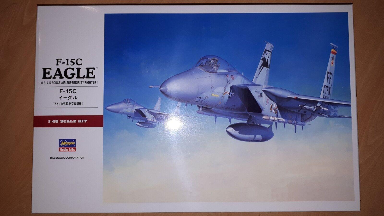 HASEGAWA 1 48 F -15C EAGLE, U.S. Air Force SUPERORITY FIght, PLASTmodellllerL