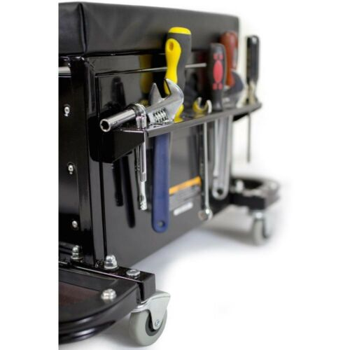 Rolling Tool Chest Wheeled Storage Box Garage Organizer Work Seat 3 Drawer Black