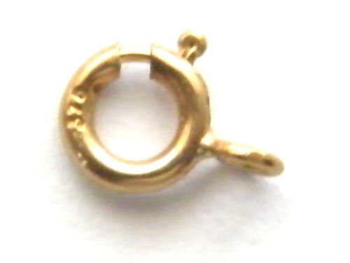 """Bracelet Necklace 9ct Yellow Gold Heavy Bolt Ring Clasp/""""Open/"""" 4.0mm Findings"""