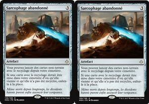 MTG-Magic-Age-de-la-Destruction-Sarcophage-abandonne-X2-Rare-VF
