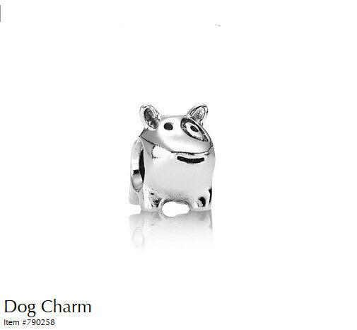PANDORA Charm Sterling Silver ALE S925 DOG EYE PATCH 790258