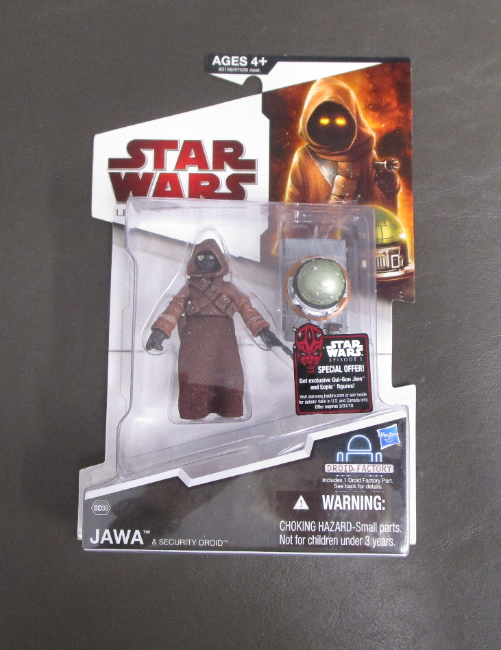 Jawa & Security Droid BD39 2009 STAR WARS The Legacy Collection MOC