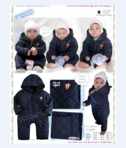 cremallera con capucha. Bebé Niño Invierno corona Ropa para nieve Chaqueta TAMAÑO PLAYSUIT 3-24months