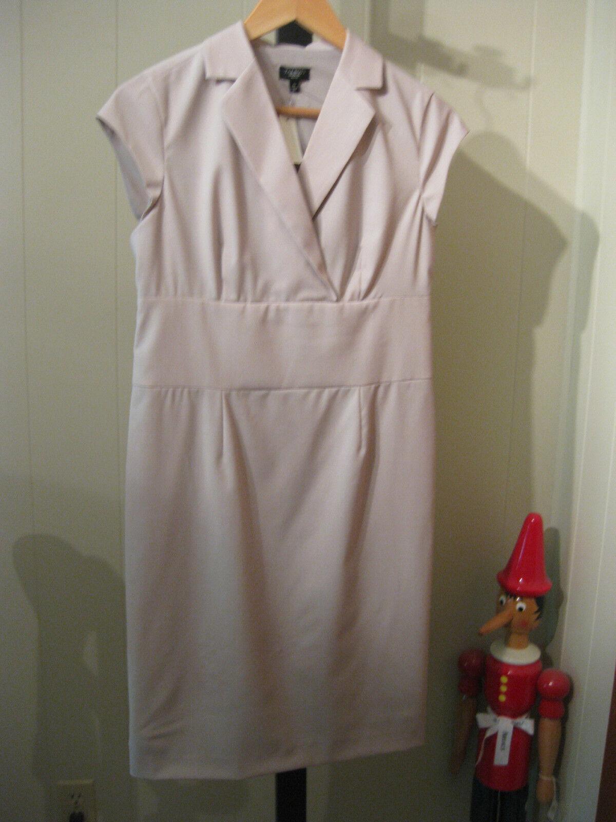 PETITE SEASONLESS STRETCH WOOL SHEATH DRESS TALBOTS 4P