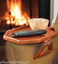 Red Maple Mini Clip Side Table Portable Attachable TV Tray Rest Sofa Armchair