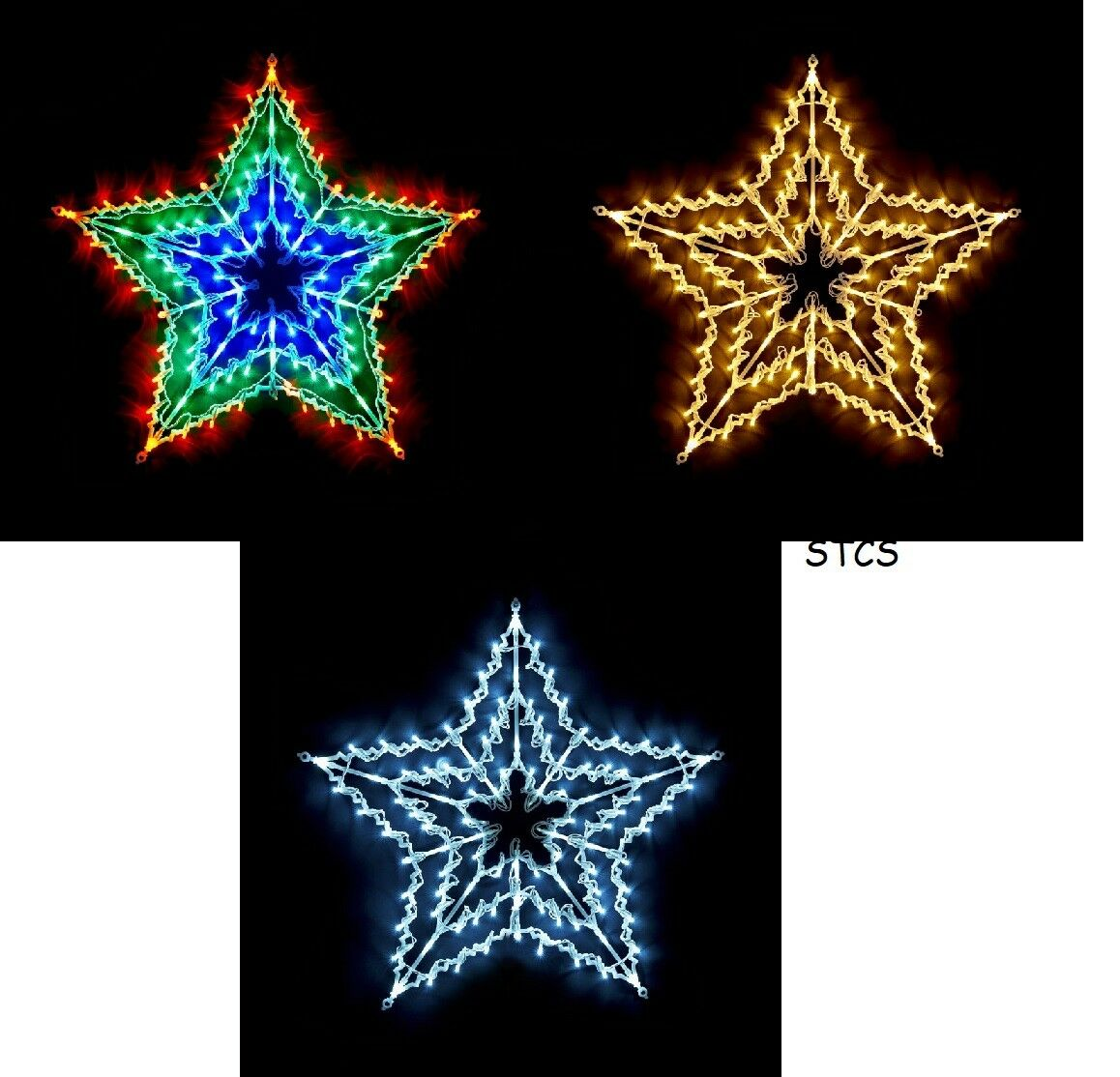 Christmas 100 LED Multicolour Star Window Light - Warm Weiß, Cool Weiß, Multi