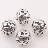 10/20Pcs Tibetan Silver Flower Rattan Charm Hollow Loose Spacer Beads DIY 10mm