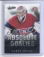 13-14 2013-14 ABSOLUTE HOCKEY CAREY PRICE GOALIES 1 BOXING DAY CANADIENS
