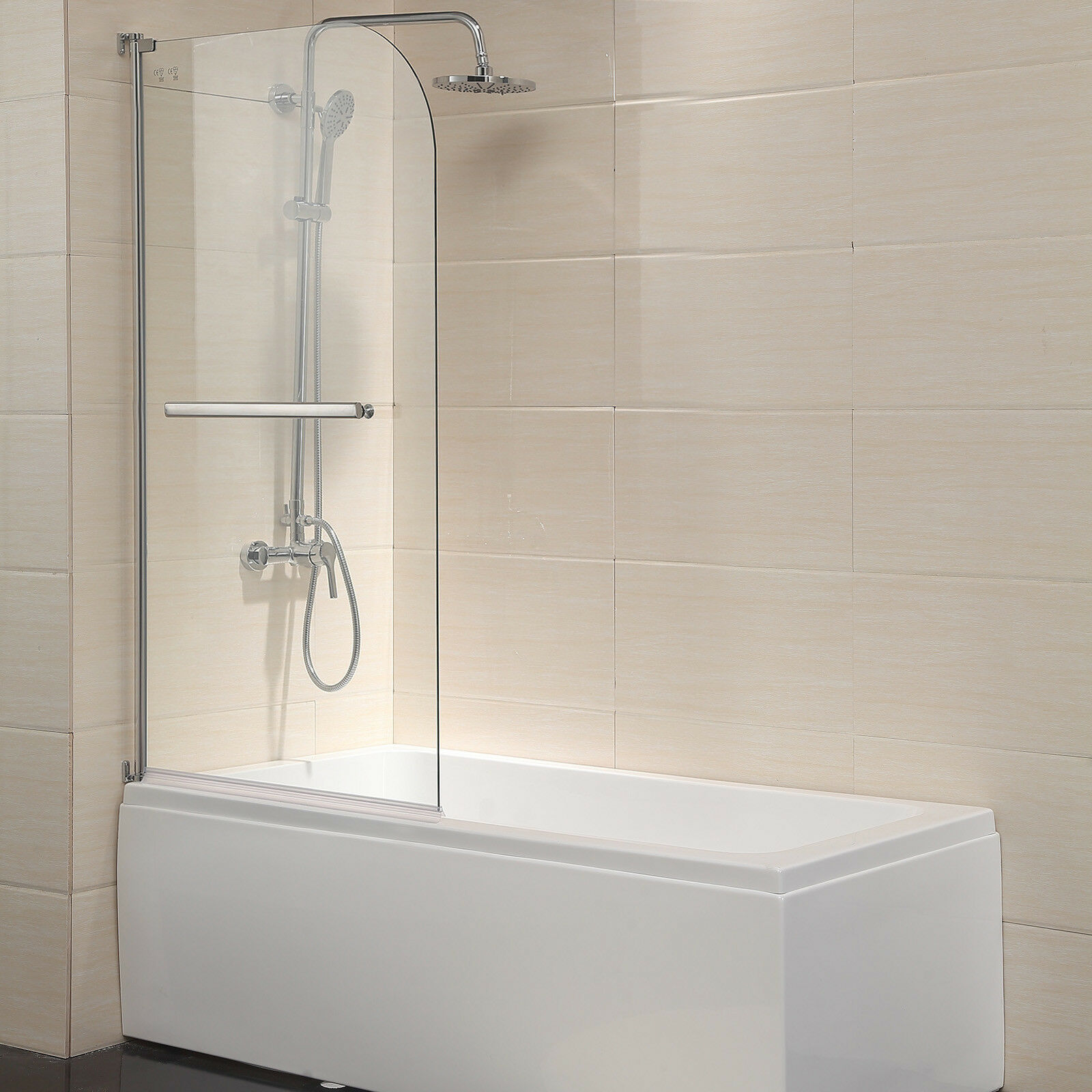 55 X31 Bathtub Shower Door Frameless 1 4 Clear Glass Chrome Finish