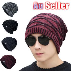 419854cf2e0794 Men Women AU Skull Winter Slouch Ski Beanie Crochet Oversize Hat ...