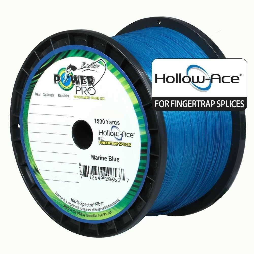 PowerPro Hollow Ace Braided Line 100lb 1500yd Spool Marine bluee