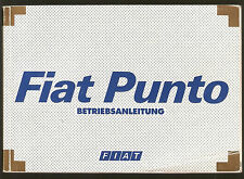 Betriebsanleitung FIAT PUNTO Handbuch Bordbuch IX / 1999