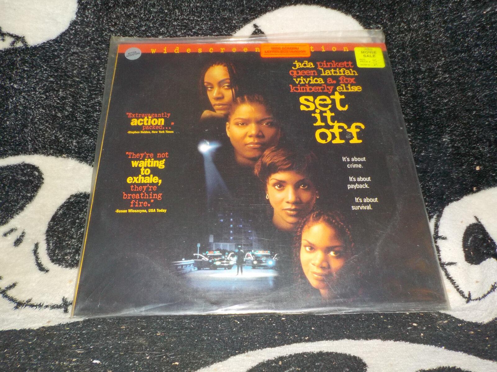 Set It Off Widescreen Laserdisc Ld Jada Pinkett Queen Latifah Free