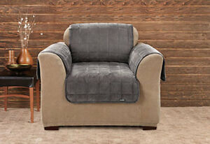 Phenomenal Details About Sure Fit Deluxe Chair Furniture Cover With Arms Non Slip Mini Check Evergreenethics Interior Chair Design Evergreenethicsorg