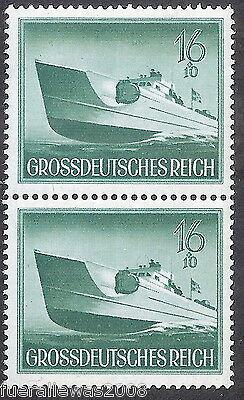 Deutsches Reich MiNr  881 I / 881 ** Paar mit dem Plattenfehler von Michel 881 I