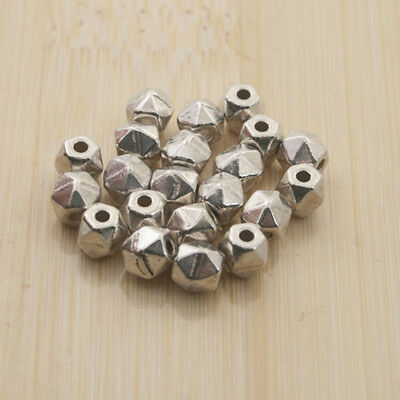 60pcs Tibetan Silve  faceted Spacer bead Findings X0225