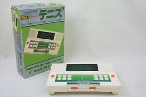 LCD-JUNK-TENNIS-2436-Hand-Held-Game-LSI-Game-amp-Watch-Not-Working-Boxed-TOMY