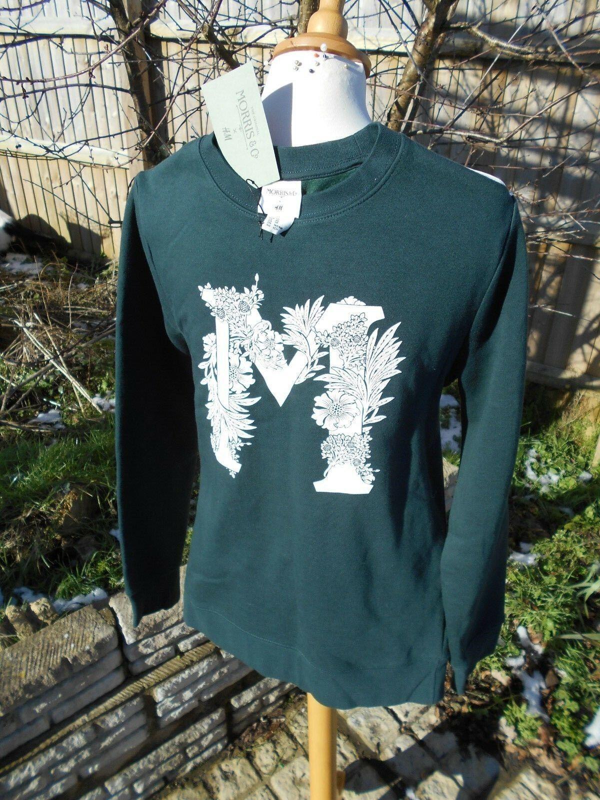 H&M x William Morris & Co Men's jumper sweater winter warm blogger L BNWT GREEN