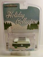 Volkswagen Vw Type 2 Green Machine Chase Car Holiday Collection Xmas Greenlight