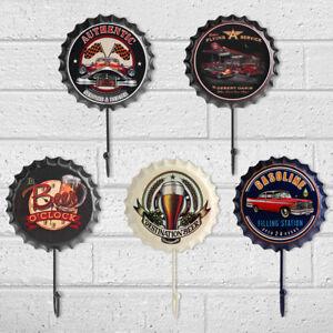 Retro-Beer-Bottle-Caps-Hook-Tin-Sign-Wall-Decor-Metal-Bar-Plaque-Pub-Shop-NEW-S5