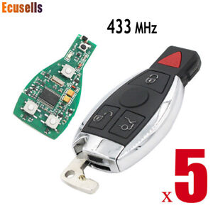 Entry Remote Key Fob 433MHz Transmitter BGA Chip Replace For Mercedes Benz 2000